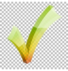 Transparent check mark vector