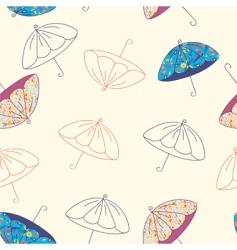 umbrellas seamless vector image
