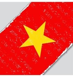 Vietnamese grunge flag vector