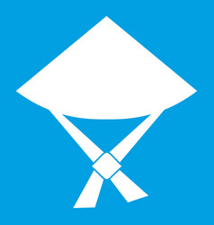 vietnamese hat icon white vector image vector image