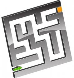tiny maze vector image