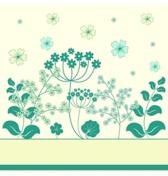 Garden flowers and herbs background vector