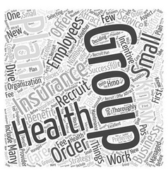 Attract employees group health insurance word vector