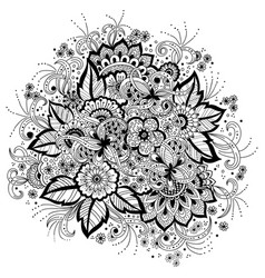 of mehndi ornament traditional vector image
