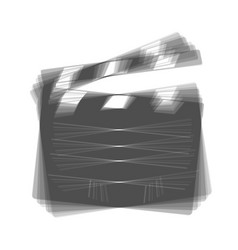 Film clap board cinema sign  gray icon vector