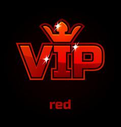 red vip symbol vector image