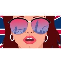 Visit london learn english vector