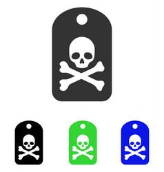 Death sticker flat icon vector