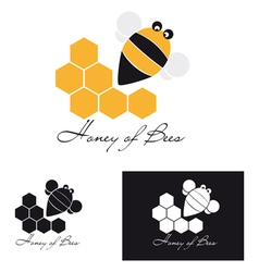 Honey of bee vector