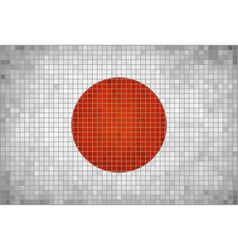 The mosaic flag of japan vector