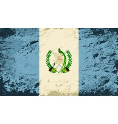 Guatemalan flag grunge background vector