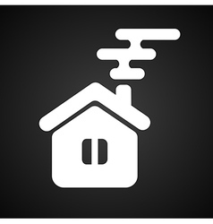 Isolated house symbol vector