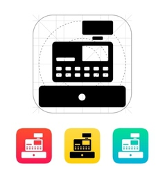 Cash register machine icon vector