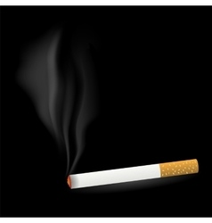 Smoking cigarette vector