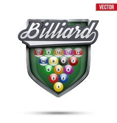Premium symbol of billiard label vector
