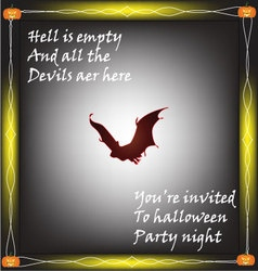Halloween quotes background in the dark night vector