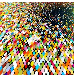 Multicolored abstract mosaic spots vector