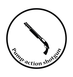 Pump-action shotgun icon vector