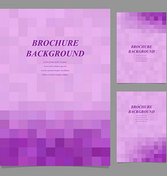 Abstract geometric page template background set vector