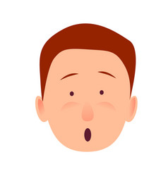 Bug-eyed man-child with open mouth flat design vector