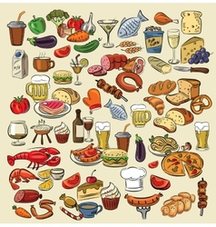 Color food vector