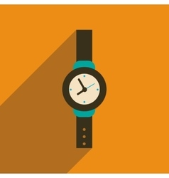 Flat icon with long shadow men watch vector