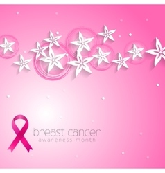 Flowers pink design and breast cancer awareness vector image vector image