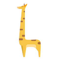graphic giraffe in colors isolated on white vector image