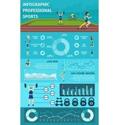 Infographic people sport vector