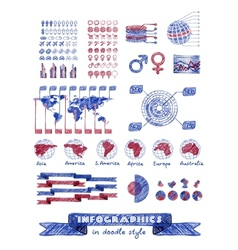 Infographics in doodle style vector