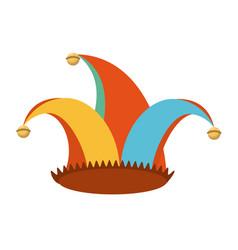 Jester hat celebration ornament vector