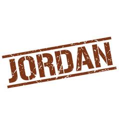 Jordan brown square stamp vector