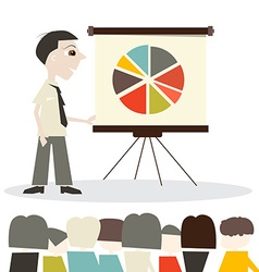 Man Cartoon on Presentation or Meeting vector image