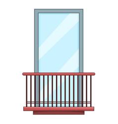 Narrow balcony icon cartoon style vector