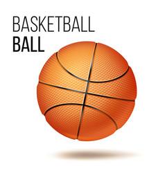 orange basketball ball isolated realistic vector image
