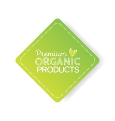 Organic product badge vintage label with hand vector image vector image