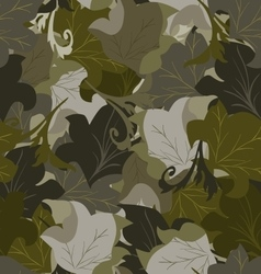 Seamless background of leaves vector