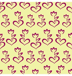 Seamless pattern with stylized burgundy hearts vector