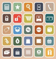 Shopping flat icon on orange background vector