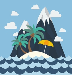 Summer beach and mountain vector image