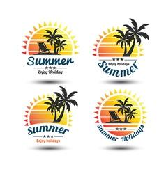 Summer label 3 vector
