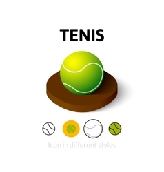 Tenis icon in different style vector