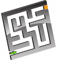 tiny maze vector image vector image