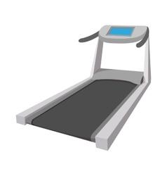 Treadmill cartoon icon vector image