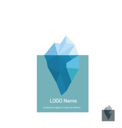 Triangle iceberg logo design vector image