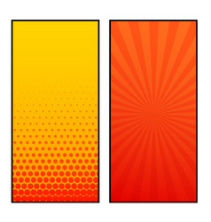 Two vertical comic pages style banner design vector