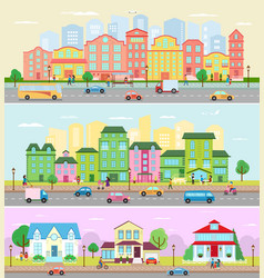urban city landscape cityscape with vector image