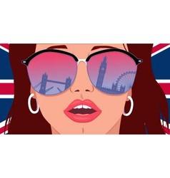 Visit london learn english vector