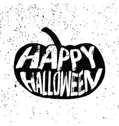 Vintage Halloween pumpkin silhouette in grunge vector image