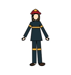 Firefighter cartoon icon image vector